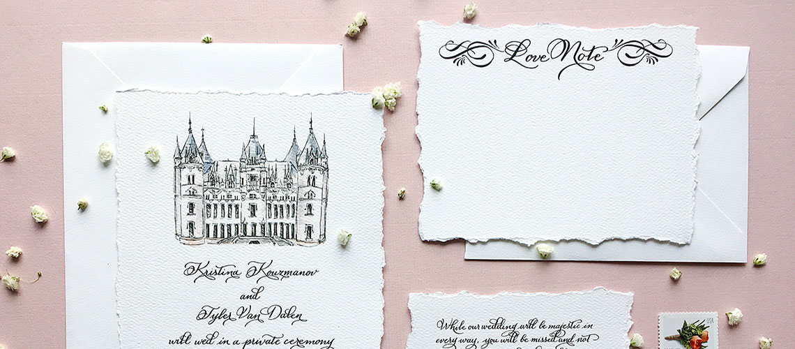 Image of french wedding invitations