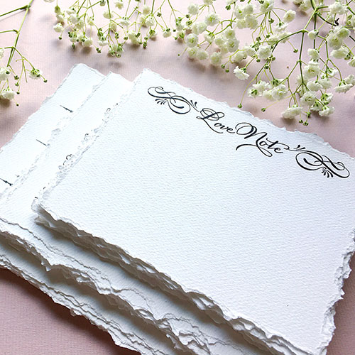 image of french wedding note